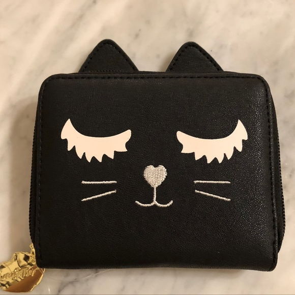 Betsey Johnson Bags Kitty Cat Wallet  46b3c16455b22